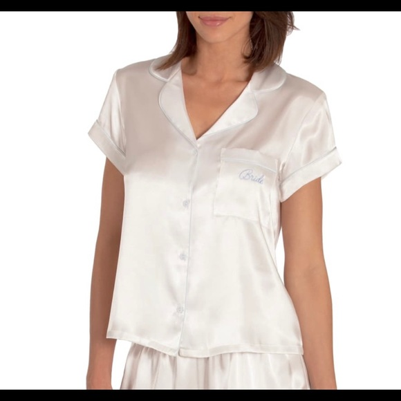 IN BLOOM BY JONQUIL Satin Pajama Shirt-NWT
